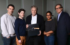 Darkside photo - from the recording at the BBC (l > r): Rufus Sewell, Iwan Rheon, Tom Stoppard, Amaka Okafor, Bill Nighy