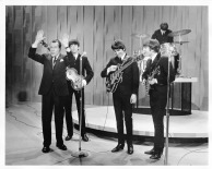 Beatles - Ed Sullivan & Beatles on Stage - Ed Sullivan Show - C 1964 CBS Photography
