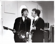 Beatles - John, Paul on Stage - Ed Sullivan Show - C 1964 CBS Photography