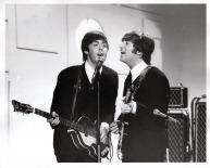 Beatles - John, Paul on Stage - Ed Sullivan Show - C 1964 CBS Photography