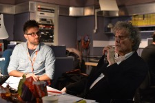 Darkside photo - from the recording at the BBC (l > r): James Robinson, Tom Stoppard