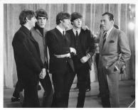 Beatles - Ed Sullivan & Beatles discuass - Ed Sullivan Show - C 1964 CBS Photography
